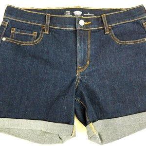 Old-Navy-Womens-Short-Shorts-Blue-Dark-Wash-Denim